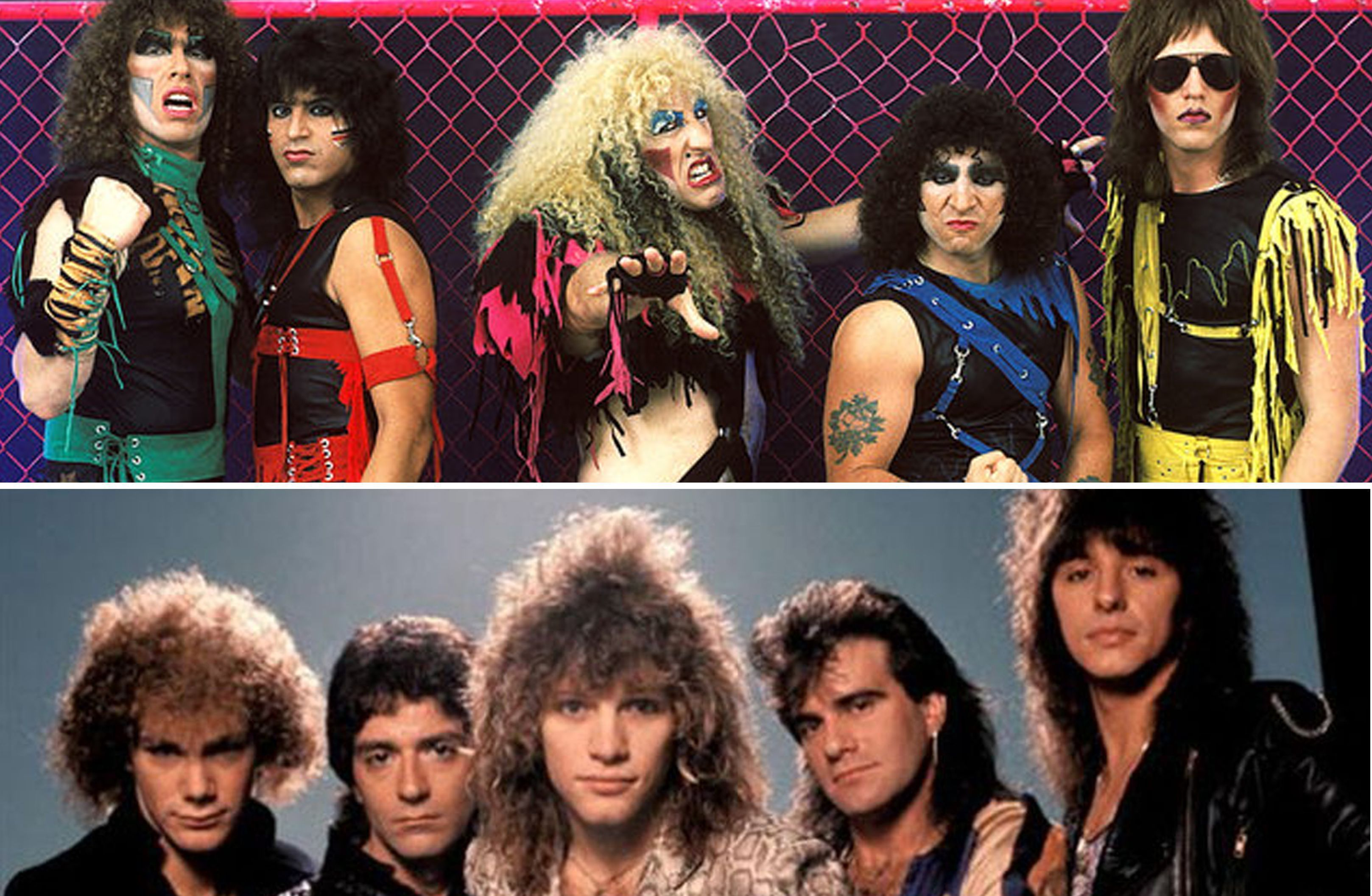 Classic hair metal bands (1980s and 90s)